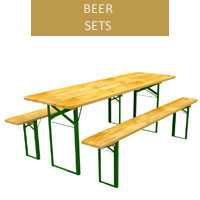 Beer set, 70 cm table + 2 benches