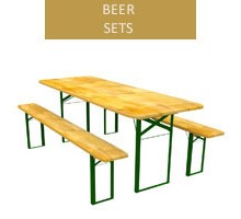 Beer set, 80 cm table + 2 benches