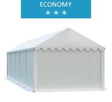 Namiot magazynowy 4x10m, PCV biały, economy