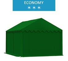 Namiot magazynowy 3x4m,  PCV zielony, economy