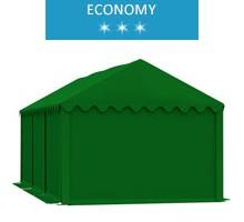 Namiot magazynowy 3x6m, PCV zielony, economy