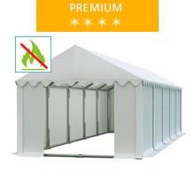 Namiot magazynowy 4x10m, PCV biały, premium, trudnopalny