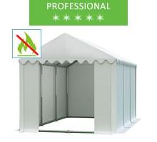 Namiot magazynowy 4x6m, PCV biały, professional, trudnopalny