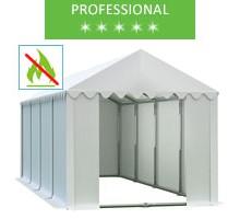 Namiot magazynowy 4x8m, PCV biały, professional, trudnopalny