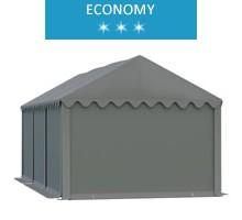 Namiot magazynowy 4x6m, PCV szary, economy
