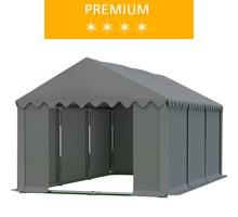 Namiot magazynowy 4x6m, PCV szary, premium