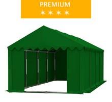 Namiot magazynowy 4x8m, PCV zielony, premium