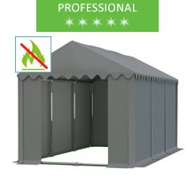 Namiot magazynowy 4x6m, PCV szary professional, trudnopalny