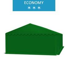Namiot magazynowy 5x10m, PCV zielony, economy