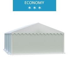 Namiot magazynowy 5x6m,  PCV biały, economy