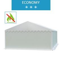 Namiot magazynowy 5x8m, PCV biały, economy, trudnopalny