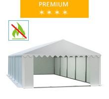 Namiot magazynowy 5x10m, PCV biały, premium, trudnopalny