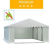 Namiot magazynowy 5x6m, PCV biały, premium, trudnopalny
