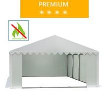 Namiot magazynowy 5x8m, PCV biały, premium, trudnopalny