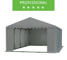 Storage tent 6x8m, gray PVC, professional