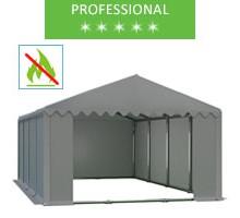 Namiot magazynowy 6x8m, PCV szary, professional, trudnopalny