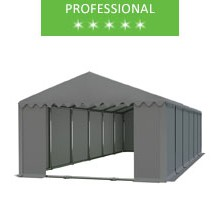 Storage tent 6x12m, gray PVC, professional