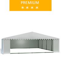 Namiot magazynowy 8x8m, PCV biały, premium