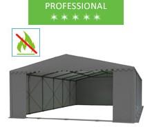 Storage tent 8x12m, gray PVC, professional, fireproof