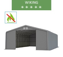 Hala namiotowa 8x12m, wiking, szary, wjazd 3.5 m, trudnopalny