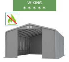 Warehouse 8x12m, wiking, gray, entry 4.6m, fireproof