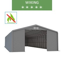 Warehouse 8x20m, wiking, gray, entry 3.5m, fireproof