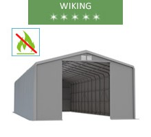 Warehouse 8x18m, wiking, gray, entry 4.6m, fireproof