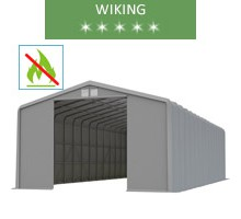 Warehouse 8x20m, wiking, gray, entry 4.6m, fireproof
