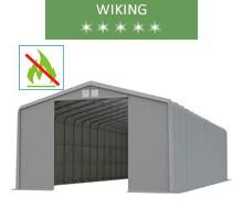Hala namiotowa 8x20m, wiking, szary, wjazd 4.6 m, trudnopalny