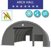 Hala łukowa 9.15x12m, PCV szary, Namiot o konstrukcji łukowej