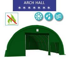 Hala łukowa 9.15x12m, PCV zielony, Namiot o konstrukcji łukowej