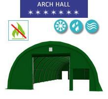 Hala łukowa 9.15x20m, PCV zielony, Namiot o konstrukcji łukowej
