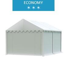 Namiot magazynowy 3x4m,  PCV biały, economy