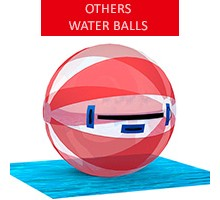 Water ball, white-red, diameter 2m