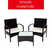 Rattan garden furniture for 2 people, black