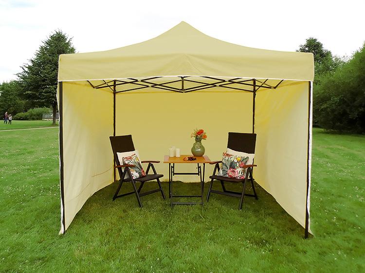 Namiot ekspresowy 2.5x2.5m + 3 ścianki, zielony, economy HD